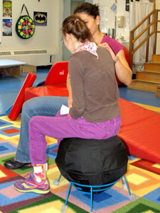 Therapy goals such as head control are advanced with AlertSeats' stable comfort and positive sensory input.