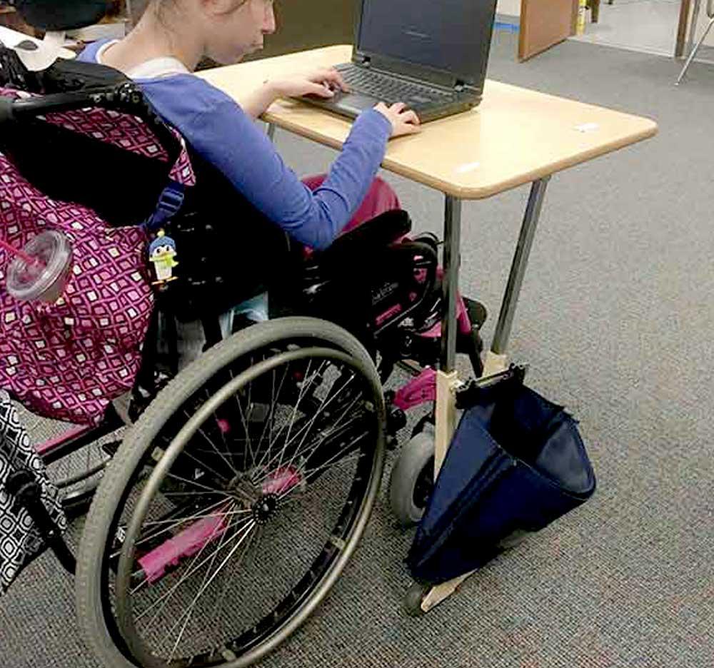 AlertDesk Wheelchair