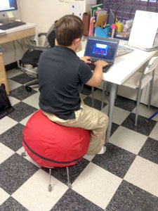 IDEAL School teachers find that an AlertSeat™ helps some students focus for more time on task