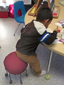 Kindergarten Using Alert Seat